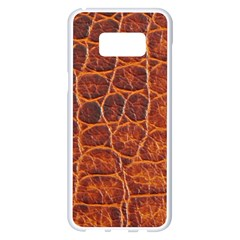 Crocodile Skin Texture Samsung Galaxy S8 Plus White Seamless Case