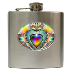 Rainbow Fractal Hip Flask (6 Oz)