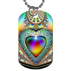 Rainbow Fractal Dog Tag (two Sides) by BangZart