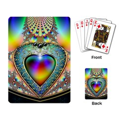 Rainbow Fractal Playing Card