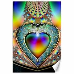 Rainbow Fractal Canvas 20  X 30