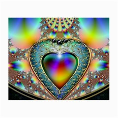 Rainbow Fractal Small Glasses Cloth (2 Side) by BangZart