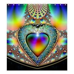 Rainbow Fractal Shower Curtain 66  X 72  (large)  by BangZart