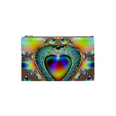 Rainbow Fractal Cosmetic Bag (small)  by BangZart