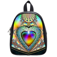 Rainbow Fractal School Bags (small)  by BangZart
