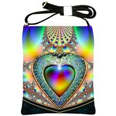 Rainbow Fractal Shoulder Sling Bags