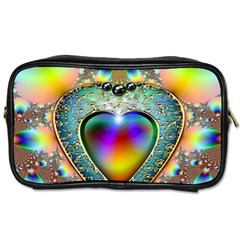 Rainbow Fractal Toiletries Bags