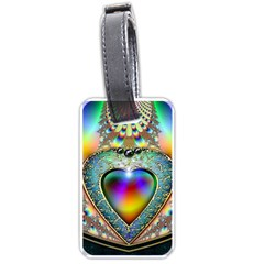 Rainbow Fractal Luggage Tags (one Side)  by BangZart