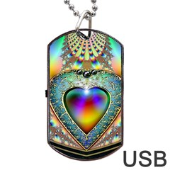 Rainbow Fractal Dog Tag Usb Flash (two Sides) by BangZart