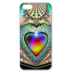 Rainbow Fractal Apple Seamless Iphone 5 Case (clear)