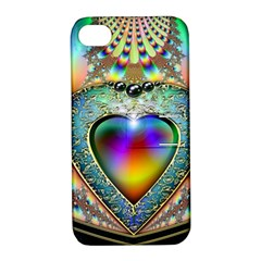 Rainbow Fractal Apple Iphone 4/4s Hardshell Case With Stand