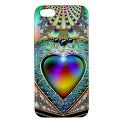 Rainbow Fractal Apple Iphone 5 Premium Hardshell Case