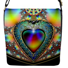 Rainbow Fractal Flap Messenger Bag (s)