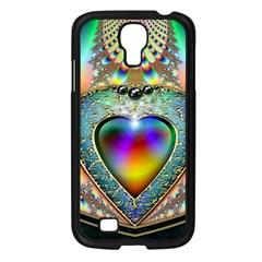Rainbow Fractal Samsung Galaxy S4 I9500/ I9505 Case (black) by BangZart