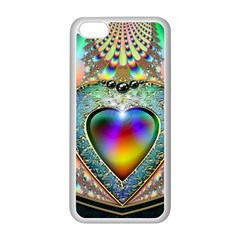 Rainbow Fractal Apple Iphone 5c Seamless Case (white)