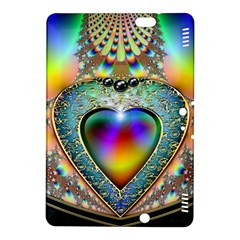 Rainbow Fractal Kindle Fire Hdx 8 9  Hardshell Case by BangZart