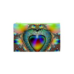 Rainbow Fractal Cosmetic Bag (xs) by BangZart
