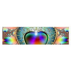 Rainbow Fractal Satin Scarf (oblong)