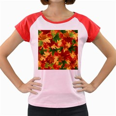 Autumn Leaves Women s Cap Sleeve T Shirt by BangZart
