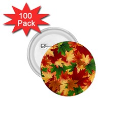 Autumn Leaves 1 75  Buttons (100 Pack)  by BangZart