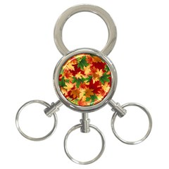 Autumn Leaves 3 Ring Key Chains