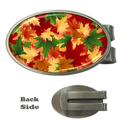 Autumn Leaves Money Clips (oval)  by BangZart