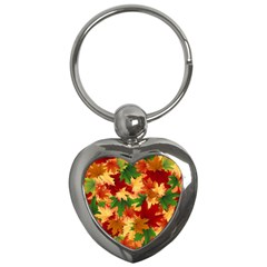 Autumn Leaves Key Chains (heart)  by BangZart