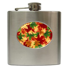 Autumn Leaves Hip Flask (6 Oz)
