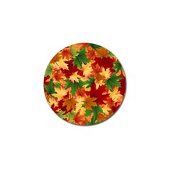 Autumn Leaves Golf Ball Marker by BangZart