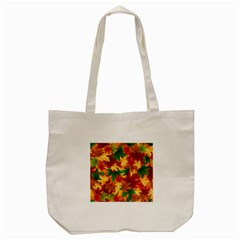 Autumn Leaves Tote Bag (cream) by BangZart