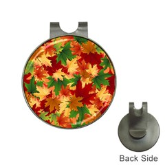 Autumn Leaves Hat Clips With Golf Markers