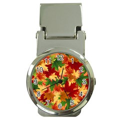 Autumn Leaves Money Clip Watches by BangZart