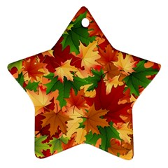 Autumn Leaves Star Ornament (two Sides) by BangZart