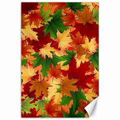 Autumn Leaves Canvas 24  X 36  by BangZart