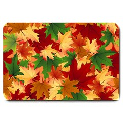 Autumn Leaves Large Doormat  by BangZart