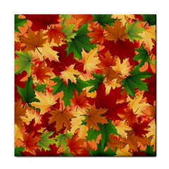 Autumn Leaves Face Towel by BangZart