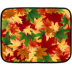 Autumn Leaves Fleece Blanket (mini) by BangZart