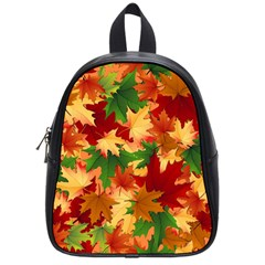 Autumn Leaves School Bags (small)  by BangZart