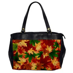 Autumn Leaves Office Handbags by BangZart