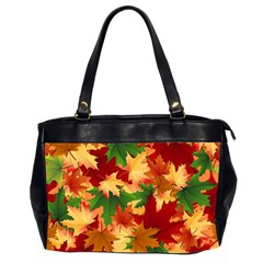 Autumn Leaves Office Handbags (2 Sides)  by BangZart