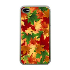 Autumn Leaves Apple Iphone 4 Case (clear)
