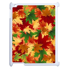 Autumn Leaves Apple Ipad 2 Case (white) by BangZart