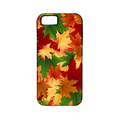 Autumn Leaves Apple Iphone 5 Classic Hardshell Case (pc+silicone)