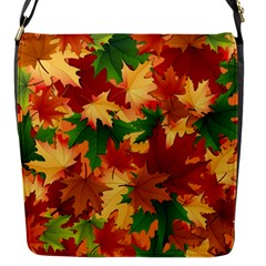 Autumn Leaves Flap Messenger Bag (s) by BangZart