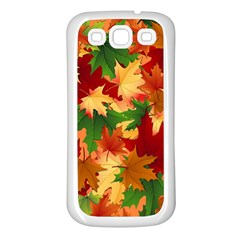 Autumn Leaves Samsung Galaxy S3 Back Case (white) by BangZart