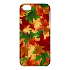 Autumn Leaves Apple Iphone 5c Hardshell Case by BangZart