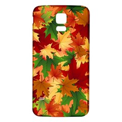 Autumn Leaves Samsung Galaxy S5 Back Case (white) by BangZart
