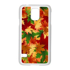 Autumn Leaves Samsung Galaxy S5 Case (white) by BangZart