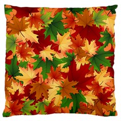 Autumn Leaves Standard Flano Cushion Case (two Sides) by BangZart