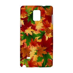 Autumn Leaves Samsung Galaxy Note 4 Hardshell Case by BangZart